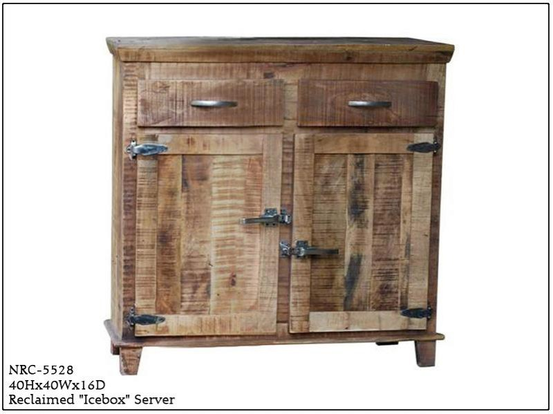 NRC-5528 Neemrana Reclaimed Wood Icebox Server