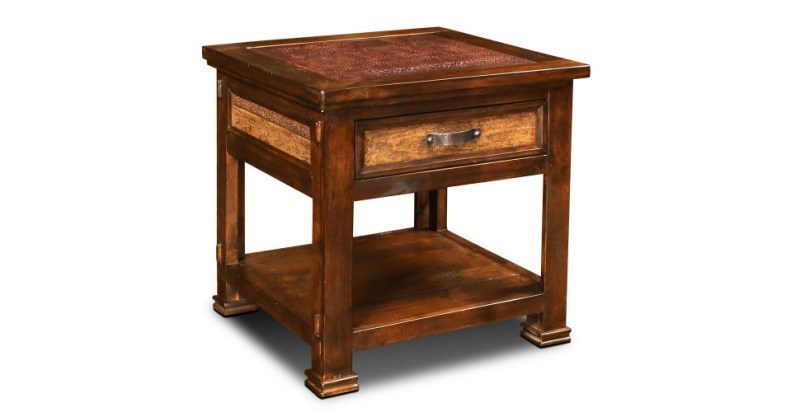 copper ridge end table