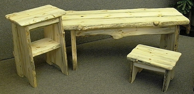 rough-cut-bench,-table,-stool