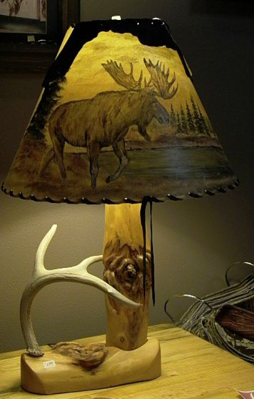 wood-antler-lamp-painted-shade-2