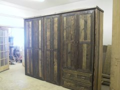 custom barnwood bedroom wall unit .JPG