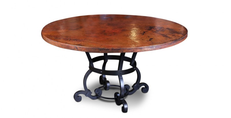 westerly metal base copper table