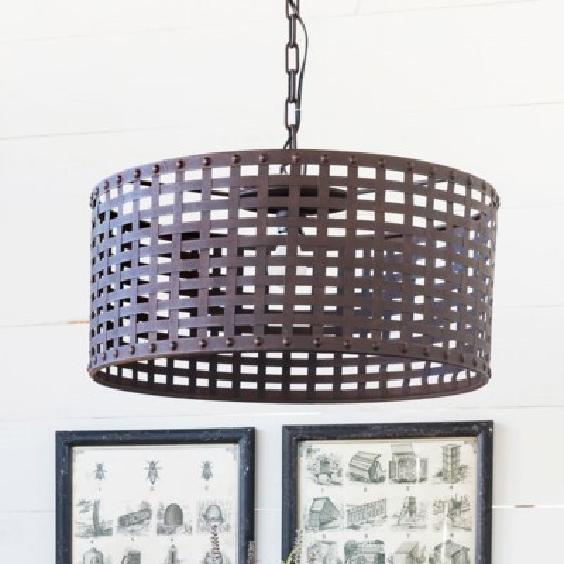 woven metal pendant light
